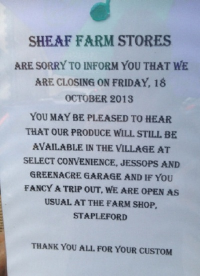 Sheaf Farm Announcement