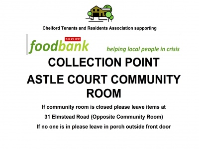 Silklife foodbank collection point poster