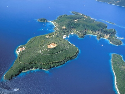 Skorpios island in the Ionian Sea