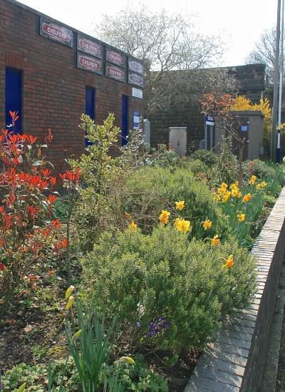 Spring at Chelford station