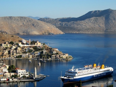 Symi island cruise ship