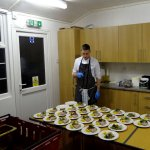 The chef counts the starters!