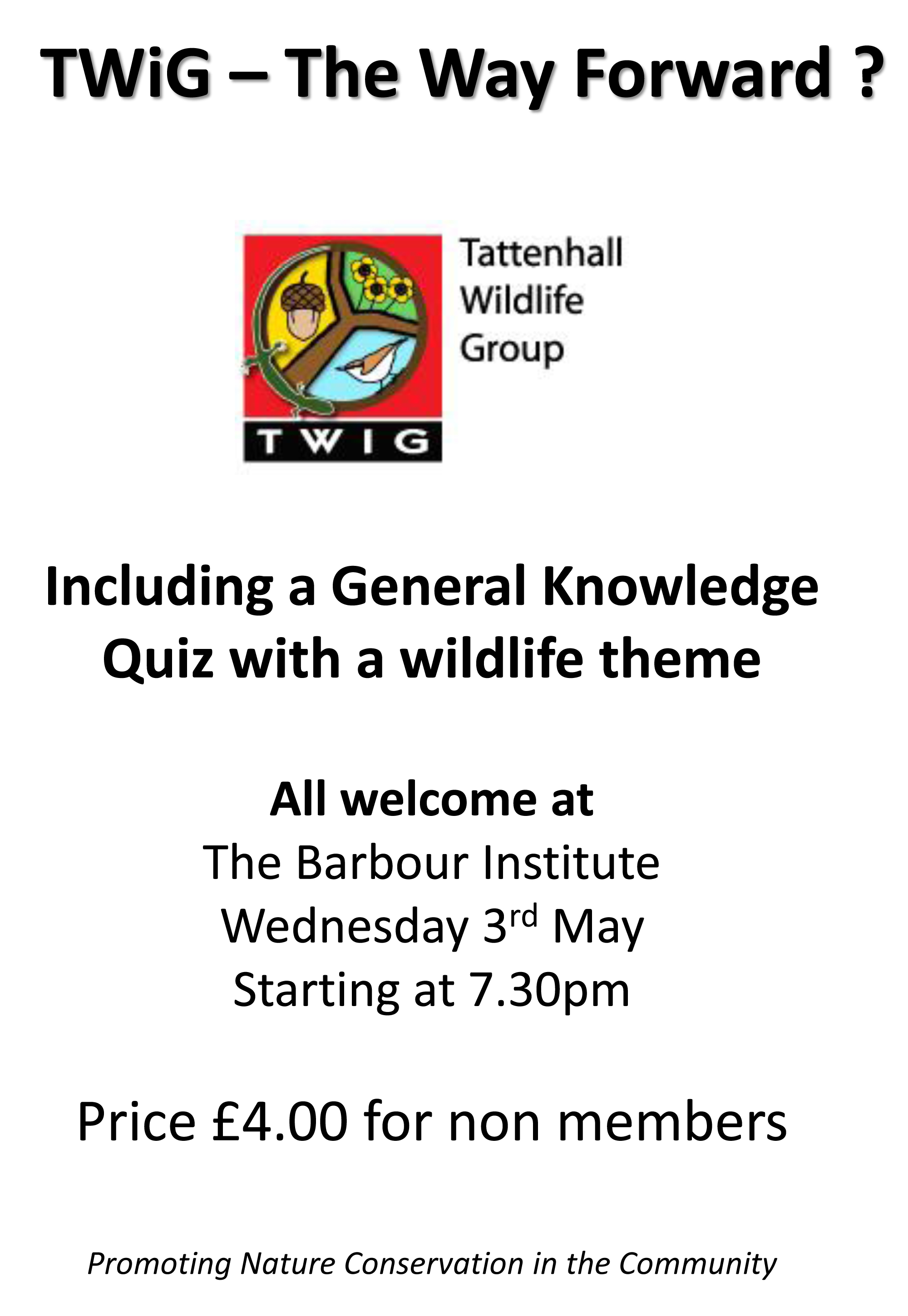 Tattenhall Online - TWiG - Mtg and Quick Quiz on Wed.