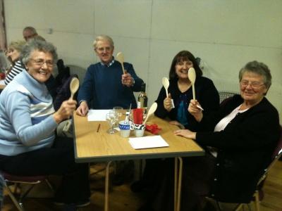 Village hall quiz wooden spoon winners