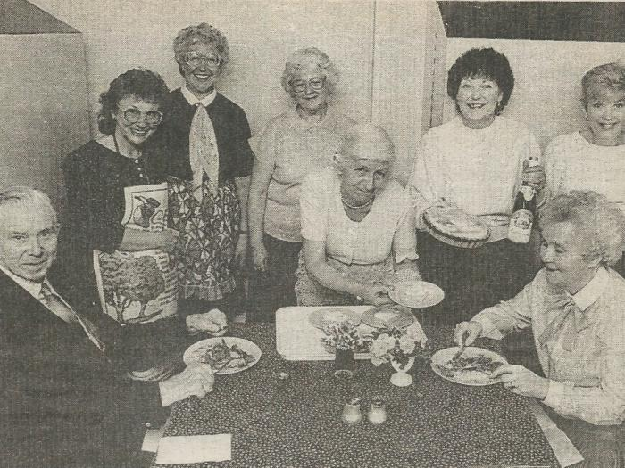 Village Luncheon Club at Tarvin Community Centre 23rd March 1990