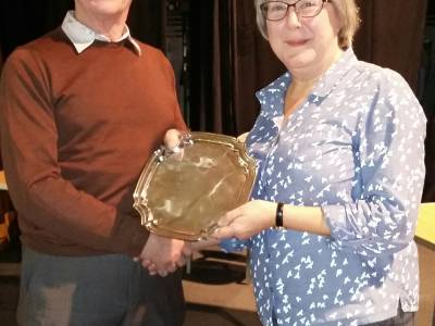 Village Quiz 2017 - Jane Lush Receives Trophy