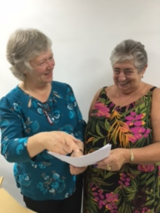 WI Susan Ord MSc, MBIG & President Irene Wilkinson