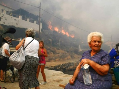 Wilfires on Greek Island of Serifos