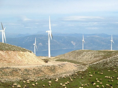 Wind farm in Greece
