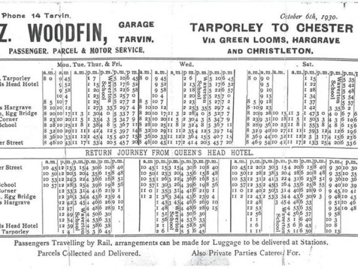Woodfin Bus Timetable